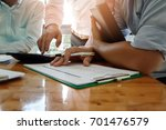 business team meeting and... | Shutterstock . vector #701476579