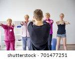 seniors at gym | Shutterstock . vector #701477251