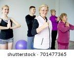 seniors at gym | Shutterstock . vector #701477365