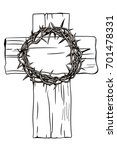a holy cross and a crown of... | Shutterstock .eps vector #701478331