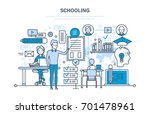 schooling concept. corporate... | Shutterstock .eps vector #701478961