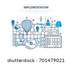 implementation concept.... | Shutterstock .eps vector #701479021
