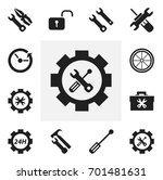 set of 12 editable mechanic...