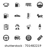 auto icons set and symbols for... | Shutterstock .eps vector #701482219