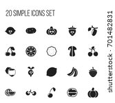 set of 20 editable food icons....