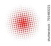 halftone circles  halftone dots ... | Shutterstock .eps vector #701483221