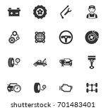 auto icons set and symbols for... | Shutterstock .eps vector #701483401