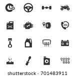 auto icons set and symbols for... | Shutterstock .eps vector #701483911