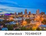 new orleans  louisiana downtown ...   Shutterstock . vector #701484019