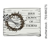 the crown of thorns with the... | Shutterstock .eps vector #701484271