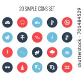 set of 20 editable climate...