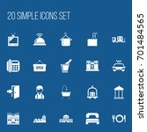 set of 20 editable travel icons....
