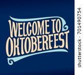 vector poster for beer festival ... | Shutterstock .eps vector #701490754