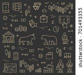 gold line concept for stock... | Shutterstock .eps vector #701493355