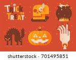 halloween | Shutterstock .eps vector #701495851