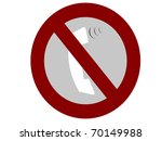 mobile not allow sign or... | Shutterstock . vector #70149988