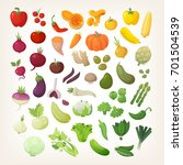 set of common vegetables... | Shutterstock .eps vector #701504539