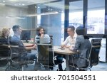 group of a young business... | Shutterstock . vector #701504551