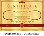certificate  diploma of... | Shutterstock .eps vector #701506861