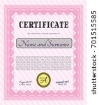 pink sample certificate or... | Shutterstock .eps vector #701515585