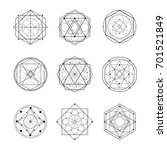 sacred geometry shape vector... | Shutterstock .eps vector #701521849