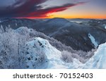 Frosty Sunset Panorama In...