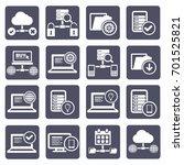 database server icon set vector | Shutterstock .eps vector #701525821