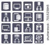database server icon set vector | Shutterstock .eps vector #701525845