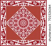 design of scarf with mandala... | Shutterstock .eps vector #701526364