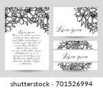 romantic invitation. wedding ... | Shutterstock . vector #701526994