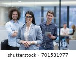 portrait of young business... | Shutterstock . vector #701531977