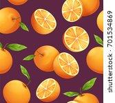orange fruit and orange slice... | Shutterstock .eps vector #701534869