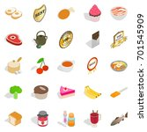 commodity icons set. isometric... | Shutterstock .eps vector #701545909