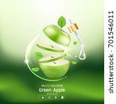 green apple collagen serum and... | Shutterstock .eps vector #701546011