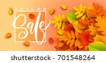 autumn sale banner background... | Shutterstock .eps vector #701548264