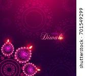 happy diwali illustration ... | Shutterstock .eps vector #701549299