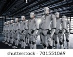 3d Rendering Robot Army Or...