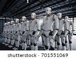 3d rendering robot army or... | Shutterstock . vector #701551069
