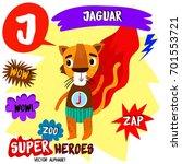 super big set. cute vector zoo... | Shutterstock .eps vector #701553721