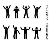 stick figure happiness  freedom ... | Shutterstock . vector #701554711