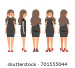 front side back view animated... | Shutterstock .eps vector #701555044