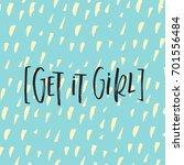 vector trendy hand lettering...   Shutterstock .eps vector #701556484