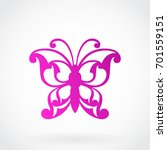 beautiful ornamental butterfly | Shutterstock .eps vector #701559151