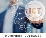 internet of things technology... | Shutterstock . vector #701560189