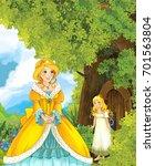 cartoon fairy tale scene with a ... | Shutterstock . vector #701563804