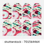 hand drawn creative tags.... | Shutterstock .eps vector #701564464