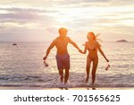 young family in love having fun ... | Shutterstock . vector #701565625