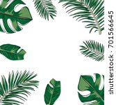 background vector of tropical... | Shutterstock .eps vector #701566645