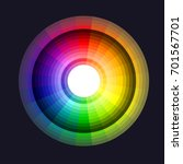 vector color wheel icon.
