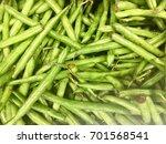 green beans at market | Shutterstock . vector #701568541